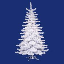 White Christmas Tree With Blue Decorations 10 U0027 Pre Lit Crystal White Artificial Christmas Tree Multi Lights