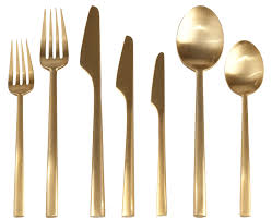 gold flatware rental cutipol rondo matte gold flatware posh couture rentals