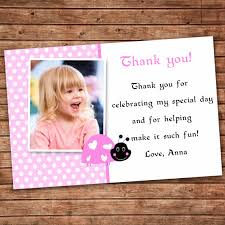 birthday thank you card message first birthday thank you card