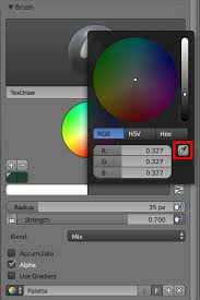 is there colour picker in texture paint mode blender stack exchange