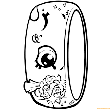 mond ring shopkin season 7 coloring free coloring pages