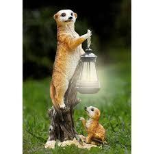 garden statue meerkat solar l design magnamail australia