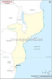 Mozambique Map Blank Map Of Mozambique Mozambique Outline Map