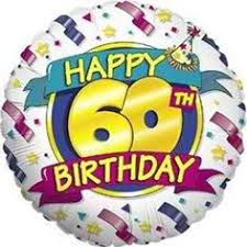 gifts for someone turning 60 rainbow 60th birthday balloon in a box 60th birthday balloons