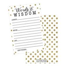 words of wisdom bridal shower bridal shower favors wedding favors and gifts