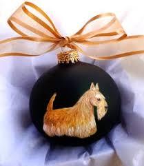 scottie ornament scottish terrier ornament wheaten