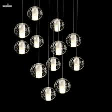 Meteor Shower Lights 36 Lights Led Modern Clear Cast Glass Ball