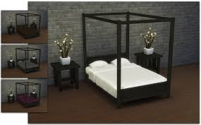 bedroom engaging mod the sims modern four poster double bed