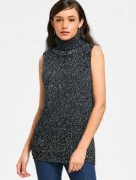black sweater vest turtleneck heathered sweater vest black sweaters one size zaful