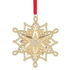 snowflake ornaments golden snowflake ornament 2017 snowflake decoration lenox