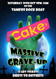 cake u0027s massive grave up halloween boat party tickets tamesis