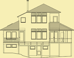 architectural house plans hillside plans for a 3 bedroom vacation or year home