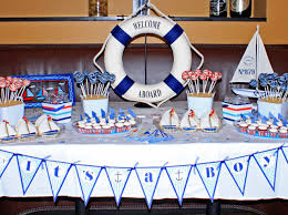 Baby Shower Food Spread 33 Unique Nautical Baby Shower Ideas Table Decorating Ideas