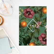 wedding invitations brisbane lush green tropical botanical wedding invitations modern botanicals