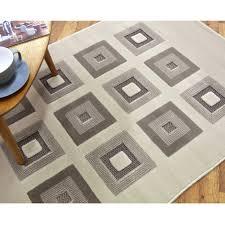 Modern Square Rug Charles Bentley Modern Square Rug Living Bedroom Grey