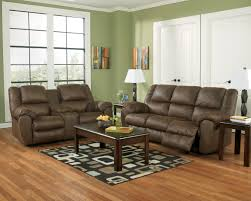 Benchcraft Leather Sofa by Benchcraft Quarterback Canyon Rocker Recliner In Brown Faux