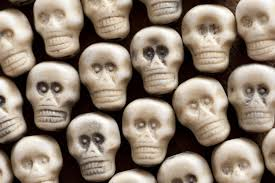 halloween background skulls free stock photo 12786 background of white plastic toy skulls