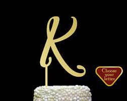 k cake topper letter k cake topper etsy