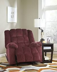 Burgundy Living Room by Ludden Burgundy Power Rocker Recliner 8110698 Power