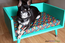 How To Make A Dog Bed Diy Mid Century Style Pet Bed With A Touch Of Star Trek Our
