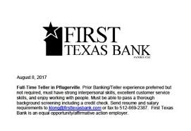 Work In Texas Resume Employment Opportunities Pflugerville Chamber Of Commerce