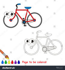 twowheeled bicycle colored coloring book stock vector 626655758