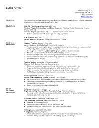 Model Resume For Teaching Job by Sample Secondary Teacher Resume Sample Graph Report Writing