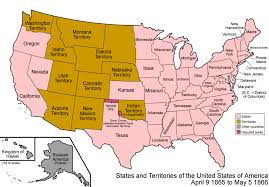 Unites States Map by Map Of The United States 1866
