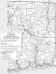 New London Ct Map Eastern Connecticut Interurbans