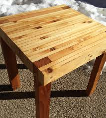 gilbert reclaimed wood butcher block style end table home