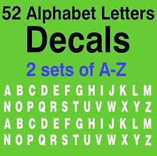 alphabet decals ebay