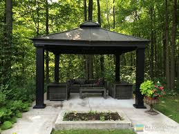 Small Gazebo For Patio by Composite Deck With Gazebo Toronto Landscaping U0026 Deck Building