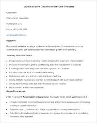 Clinical Research Coordinator Resume Sample by Administration Resume Template U2013 24 Free Samples Examples