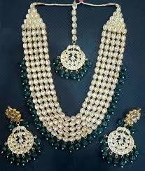 necklace pearl ebay images South indian gold plated bollywood choker necklace earrings set jpg