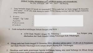 teks prosedur membuat rekening bank cara membuat surat laporan kehilangan ke kantor polisi