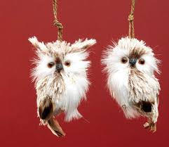 raz 4 brown feathered owl ornament set of 2 the o jays