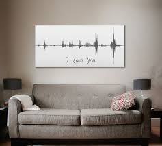 11th anniversary gift ideas 11th anniversary gift voice wave print a custom message