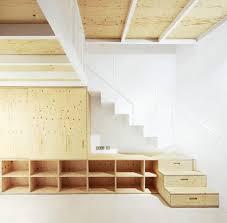split floor plywood stairs design style pinterest plywood