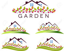fruit garden and house beautiful garden apple trees and lawn