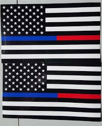Honor Flag Thin Blue U0026 Red Line Police U0026 Firefighter Honor Law Enforcement