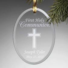 personalized communion glass ornament walmart
