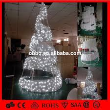 led spiral tree outdoor metal frame tree white