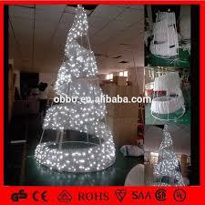 led spiral tree outdoor metal frame tree white