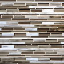 Brown Glass Tile Backsplash by Metallic Brown Glass Modern Subway Kitchen Backsplash Tile 12