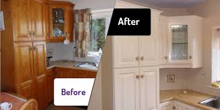 how to paint kitchen cupboard doors with a spray kitchen cabinet spray painting the kitchen facelift