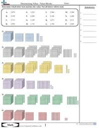 place value worksheets for first grade place value using blocks