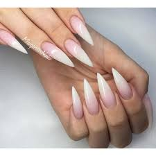 best 20 french stiletto nails ideas on pinterest claw nails