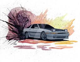 toyota supra drawing 1988 toyota supra drift painting by becauseraceart on deviantart