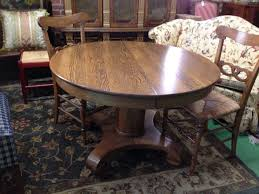 Round Oak Kitchen Table Photo 2 Jpg