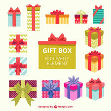 gift boxes for element vector free